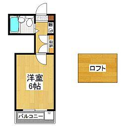 シネマ御陵[2階]の間取り