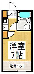 ツモルハイツ[2階]の間取り