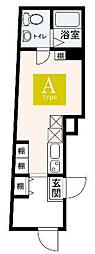 JR山手線 大塚駅 徒歩5分の賃貸マンション 4階ワンルームの間取り