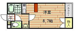 ハイツMISHIMA(ハイツミシマ)[2階]の間取り