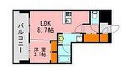 LANDIC K320 2階1LDKの間取り