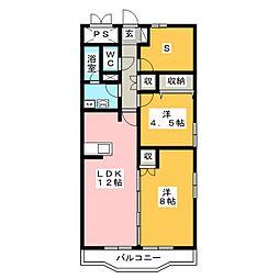 ヴィラフォーレ[3階]の間取り