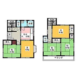 [一戸建] 愛知県名古屋市名東区社台1丁目 の賃貸【/】の間取り