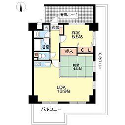 プロヴァンス福原[3階]の間取り