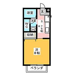 メルベーユ青江[1階]の間取り