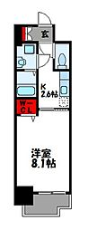 JR篠栗線 柚須駅 徒歩21分の賃貸マンション 12階1Kの間取り