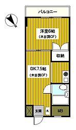 神奈川県横浜市磯子区洋光台6丁目の賃貸マンションの間取り