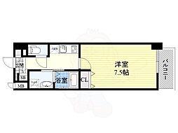 アーバンパーク梅田ウエスト 13階1Kの間取り