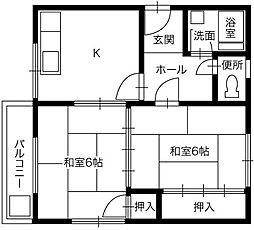 マンション 宮惣[201号室]の間取り
