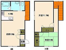 北海道小樽市梅ケ枝町の賃貸アパートの間取り