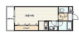 ヴァンヴェール35[205号室]の間取り