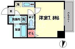 TOYOTOMI STAT PREMIUM 梅田III 7階1Kの間取り