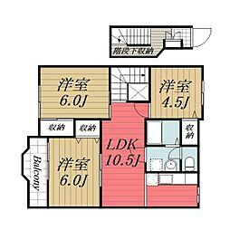 千葉県八街市八街ほの賃貸アパートの間取り