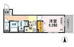 JR吉備線 備前三門駅 徒歩15分の賃貸アパート 2階1Kの間取り