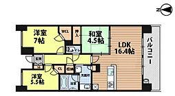 プラウドシティ新大阪[16階]の間取り