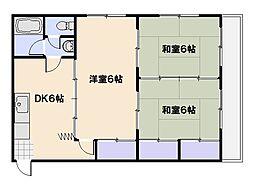三上ビル[1階]の間取り