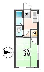 第二菊富士マンション[1階]の間取り