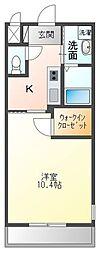 高松琴平電気鉄道琴平線 三条駅 徒歩15分の賃貸アパート 1階1Kの間取り