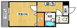 京都府京都市西京区川島滑樋町の賃貸マンションの間取り