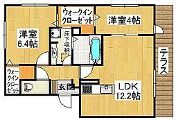 レガーロサイチ[3階]の間取り