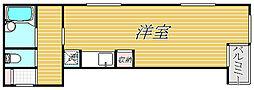 東京都中央区日本橋小舟町の賃貸マンションの間取り