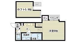 クレール鶴見[2階]の間取り