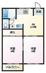 セレクトハイムII[2階]の間取り