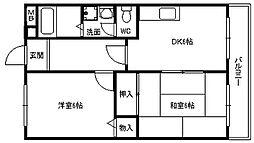 平成ハウス[0406号室]の間取り