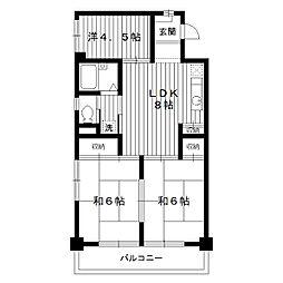 東京都練馬区谷原6丁目の賃貸マンションの間取り