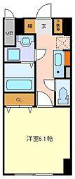 仙台市営南北線 北四番丁駅 徒歩3分の賃貸マンション 9階1Kの間取り