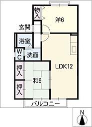 フォルビテッツァ赤坂[2階]の間取り
