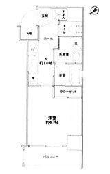 東京都中央区築地3丁目の賃貸マンションの間取り