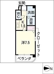 NEW PLACE[6階]の間取り
