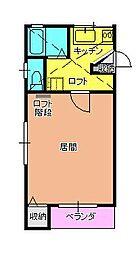 姫山ハイツD[1-D号室]の間取り