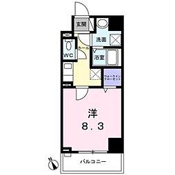 西武新宿線 西武柳沢駅 徒歩7分の賃貸マンション 2階1Kの間取り