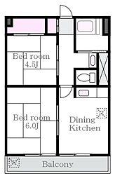 東町マンション[3階]の間取り