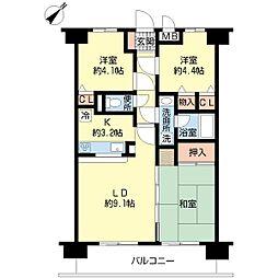 新潟県新潟市中央区古町通2番町の賃貸マンションの間取り