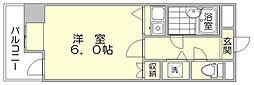 朝日プラザ博多7[8階]の間取り