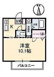 岡山県岡山市北区島田本町1の賃貸アパートの間取り
