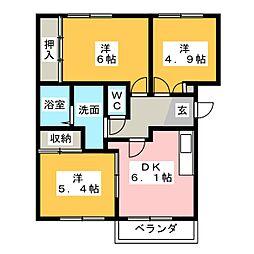 スターブルWAKO[1階]の間取り
