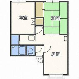 北海道札幌市西区宮の沢三条5丁目の賃貸アパートの間取り