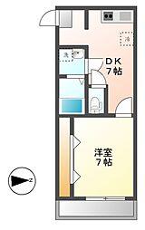 K2スクエア(ケーツー)[4階]の間取り