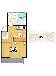 ロワール南八幡[1階]の間取り