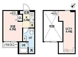 RESIDENCE ODASAGA[202号室]の間取り