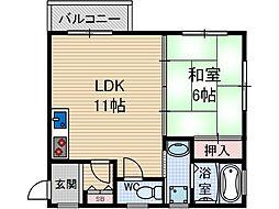 吉田ハイツ[1階]の間取り