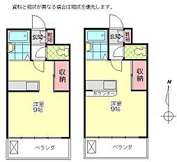 坂辺コーポ[301号室]の間取り
