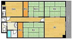 ローレルハイツ茨木2号棟[2階]の間取り