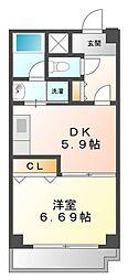 兵庫県西宮市里中町2丁目の賃貸マンションの間取り