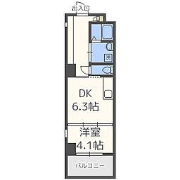 BLANC TOUR TAKAMIYA(ブラントゥーレ高宮)[5階]の間取り