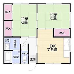 小松ハイムB1階Fの間取り画像